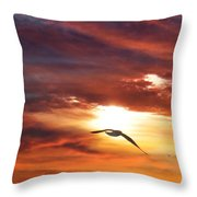 Sunset At Arverne Throw Pillow