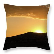 Sunset At Barcelona Throw Pillow