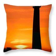 Sunset At Barnegat Lighthouse Throw Pillow