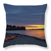 Sunset At Birch Bay State Park Throw Pillow