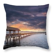 Sunset At Boulevard Park In Bellingham Washington Throw Pillow