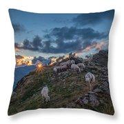 Sunset At Brunnenkogelhaus Throw Pillow