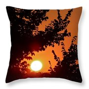 Sunset At Budapest Throw Pillow