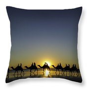 Sunset At Cable Beach Throw Pillow