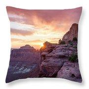 Sunset At Canyonlands Throw Pillow