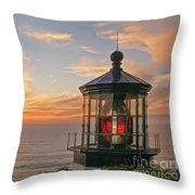 Sunset At Cape Meares Throw Pillow