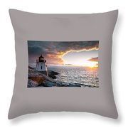 Sunset At Castle Hill Throw Pillow
