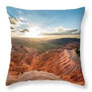 Sunset At Cedar Breaks Throw Pillow
