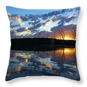 Sunset At Chester Lake Throw Pillow