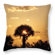 Sunset At Clearwater Beach Throw Pillow