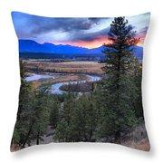 Sunset At Columbia Wetlands Throw Pillow
