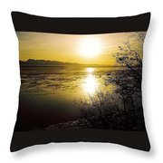 Sunset At Cook Inlet - Alaska Throw Pillow
