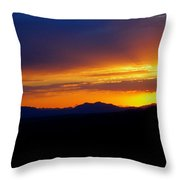 Sunset At Coronado National Memorial Throw Pillow
