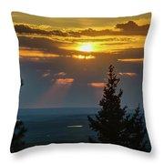 Sunset At Cypress #3 Throw Pillow