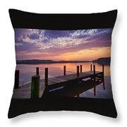 Sunset At Denbigh Park II Throw Pillow
