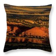 Sunset At Donkey Flats Throw Pillow