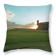 Sunset At El Morro Throw Pillow