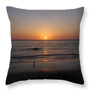 Sunset At Eljio Beach California Throw Pillow
