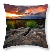 Sunset At Fontainebleau Throw Pillow