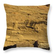 Sunset At Gallo Cliff Shelter Throw Pillow