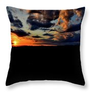 Sunset At Glassy Throw Pillow