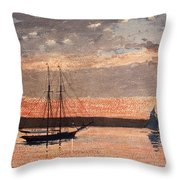 Sunset At Gloucester Throw Pillow