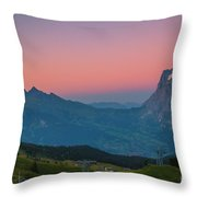 Sunset High Above Grindelwald Throw Pillow