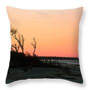 Sunset At James Island Throw Pillow