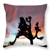 Sunset At Joshua Tree 2 Throw Pillow