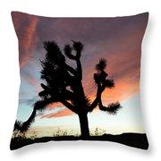 Sunset At Joshua Tree Throw Pillow