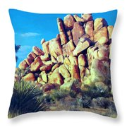 Sunset At Joshua Tree Throw Pillow
