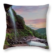 Sunset At Kaaterskill Throw Pillow