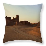 Sunset At Kaluts Desert Throw Pillow