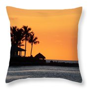 Sunset At Key West Throw Pillow