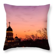 Sunset At Kharkov  Ukraine Throw Pillow