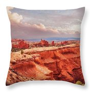 Sunset At Kodachrome Basin State Park Panorama Throw Pillow