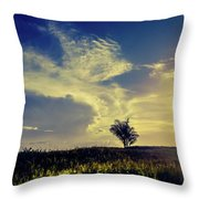 Sunset At Kuru Kuru Throw Pillow