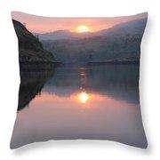 Sunset At Kylesku Throw Pillow