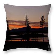 Sunset At Lake Almanor 02 Throw Pillow
