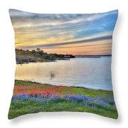 Sunset At Lake Buchanan Throw Pillow