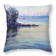 Sunset At Lake Ontario  Throw Pillow