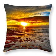 Sunset At Low Tide Throw Pillow