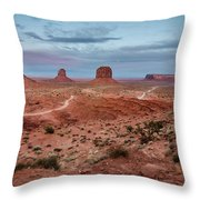 Sunset At Monument Valley No.2 Throw Pillow