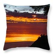 Sunset At Oswald West Throw Pillow