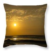 Sunset At Pacasmayo Beach 2 Throw Pillow