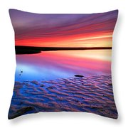 Sunset At Paines Creek Cape Cod Throw Pillow