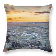 Sunset At Painted Desert Throw Pillow