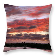 Sunset At Pass A Grille Florida Throw Pillow