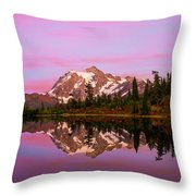 Sunset At Picture Lake Throw Pillow