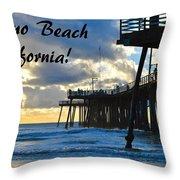 Sunset At Pismo Beach California Throw Pillow